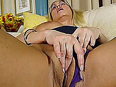 50+ Mature Blonde Masturbating