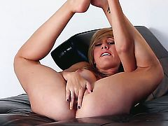 Tattoos Brett Rossi with big breasts and clean muff is totally naked and plays with her twat non-sto