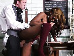 Danny D gets his always hard fuck stick used by Jasmine Webb
