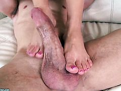 Blonde Aaliyah Love cant resist the temptation to take his hard cock in her fuck hole