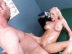 Jordan Ash has a nice time fucking Madison Scott with big hooters