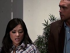 Good looking wench Kaylani Lei knows no limits when it comes to taking cumshot on her face