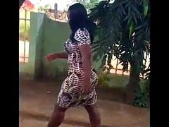 Thick Booty Black Woman Has A Mean Walk