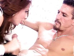 Kirsten Price swallows dudes erect meat pole