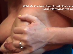 hand express breast milk