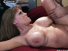 Danny Mountain gives glammed up Darla Kranes bottom a try in sex action
