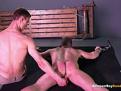 Bryan Cole Single Tail Whipped - Dildo Fucked Muscle Stud