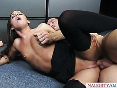 Johnny Castle cant wait any longer to shove his man meat in cute Amirah Adaras back yard