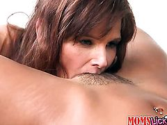 Brunette sexy Calypsa Micca with juicy bottom and clean muff and Syren Demer gets nude and then have unthinkable lesbian sex together