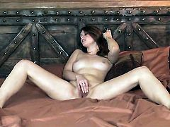 Sexy doll cant live a day without taking sex toy in her bush