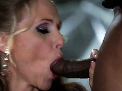 Julia Ann does lewd things and then gets covered in jizz