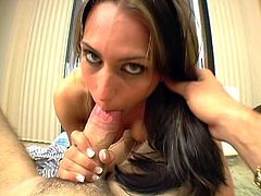 Beautiful Brunette Fucked POV