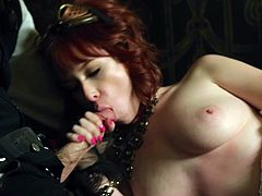 Delectable redhead hving a handjob waiting thorough penetration