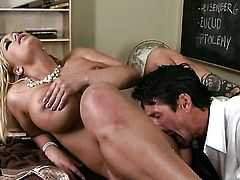 Shyla Stylez lets man put his love stick in her mouth