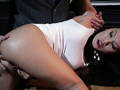Asa Akira has dick-hungry ass and takes care about guys erect cock