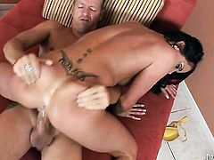 Chris Charming explores the depth of hot Savannah Sterns throat with his fuck stick