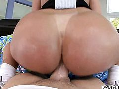 Tiffany Mynx with juicy jugs and hairless cunt having sensual butt sex