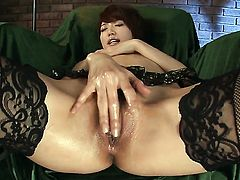 Makoto Yuukia enjoying great masturbation session