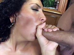 Dirty-minded slut called Nautica Smile loves working on two dicks (MMF)