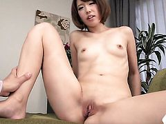 Milf is in the mood for pussy stroking