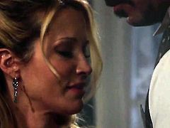 Jessica drake sucks like it aint no thing in oral action with hot blooded guy
