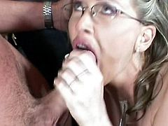 Euro shopkeeper in a sexy corset and stockings gets fucked