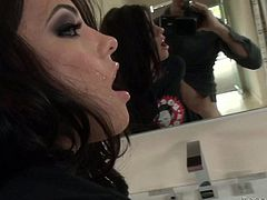 Gorgeous brunette Adriana Chechik and male pornstar Rocco Siffredi have fun together. She sucks his beefy cock and gets her tight hole stuffed from behind. Watch her get shagged in POV.