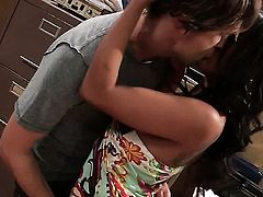 Kaylani Lei does lewd things and then takes cumshot on her lovely face