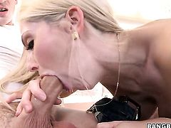 Christie Stevens gets her lovely face jizzed on after sex with horny dude