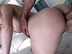 Visit official Mofos Network's HomepageFirst time this cock sucking blonde slut, Tiffany Watson, endures such strong dick inside her tight butt hole, screaming while getting roughly fucked