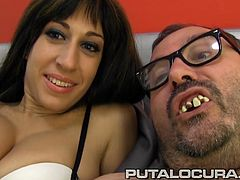 Eloa is a French stunner that has an amazing body and today is going fuck with the filthiest Spanish fat bastard: Torbe!