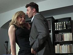 Do you like James Deen videos Then youd like that one with superb fascinating blonde milf Nina Hartley. They were so bored in the office than decided to get hard sex on the office table