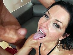 This is another cumshot compilation with juicy pornstars Holly Heart and Veronica Avluv. They get their tits and faces cum covered and love it. Watch sluts get jizzed on.