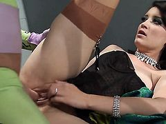 Kimberly Kane feels intense sexual desire while getting her face covered in cum