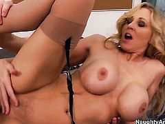 Julia Ann gets doggystyled by horny dude Michael Vegas