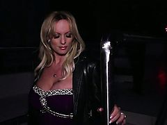 Stormy Daniels loves deep cock sucking in steamy oral action with lucky guy
