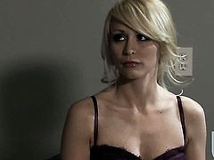 Stormy Daniels gets down on her knees to take guys cock in her mouth