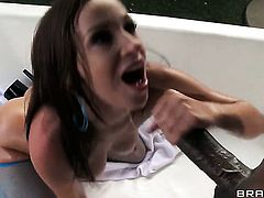 Jon Jon makes Jada Stevens scream and shout with his sturdy pole in her ass way