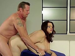 Kelly Shibari is a fat girl with amazing girls. She has a massive ass and some huge tits. She is getting fucked from all sides and her large tits are worshiped.
