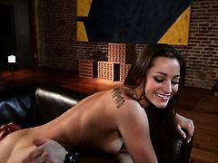 Dani Daniels satisfies dudes sexual needs and desires and then gets her nice face covered in cock cream
