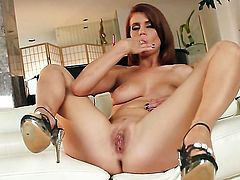 Kristine Crystalis is ready to dildo fuck her anal hole all day long