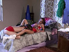 Capri Anderson and Kirsten Price strips down to her birthday suit and then take care of each others lesbian wet wet spot