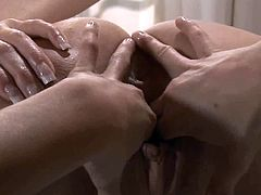Two hot lesbian girlfriends playing doctor and patient