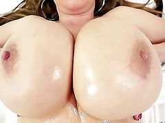 Exotic Kianna Dior with giant melons does oral job for hot fuck buddy Jonni Darkko to enjoy