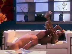 Jada Fire gives throat job like no other and hard cocked fuck buddy knows it