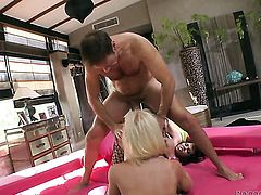 Rocco Siffredi gets pleasure from fucking sexy Simony Diamonds face after she takes it in her bum