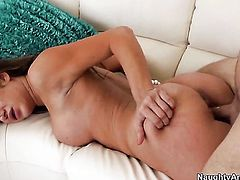 Danny Wylde has a great time banging Amy Brooke in the back yard