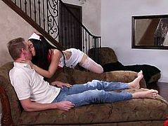 Gabby Paltrova Sexy Nurse Gets Drilled