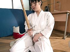 Teen Ruka Kanae playing with sex toy