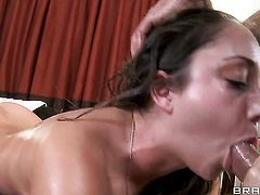 Toni Ribas uses his sturdy rod to bring Remy LaCroix to the edge of nirvana